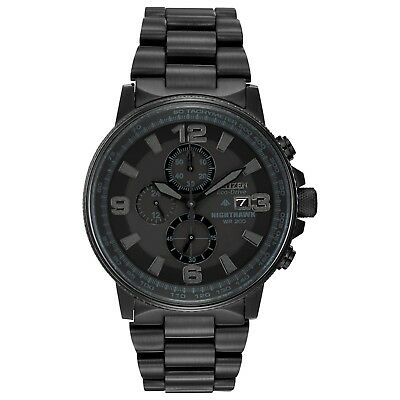 Citizen Eco-Drive Men's Nighthawk Chronograph Black 42mm Watch CA0295-58E