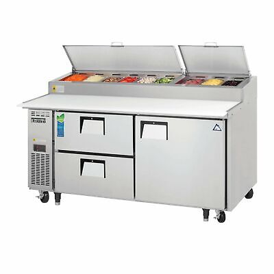 Everest Eppr2-d2 71 Pizza Prep Table Refrigerated Counter