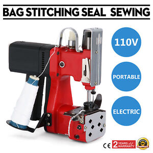 5d52b44490 Industry Electric Bag Sewing Machine Sealing Portable 110V Sack Stitching  Closer
