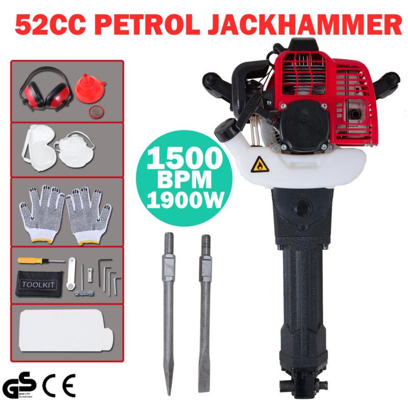 1900W Jack Hammer Gas Demolition Gasoline Breaker Jackhammer Punch Drill 52cc