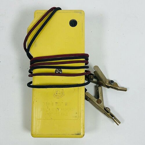 Vintage BELL SYSTEM TELEPHONE PROPERTY Yellow Phone Line Test Set Lineman Tool