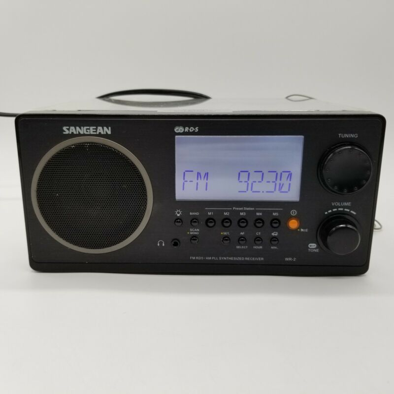 Sangean RDS WR-2 2 Band AM/FM Radio Receiver Synthesized Clear Case