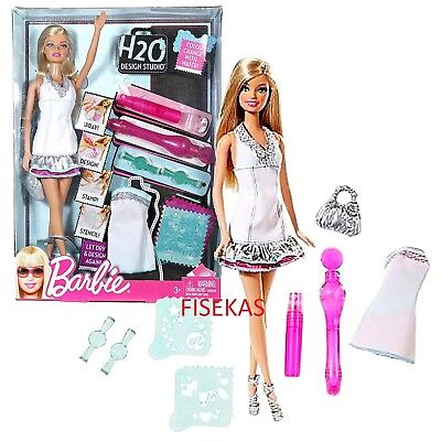 Barbie H2O Design Studio Color Fashion Gift set Doll Accessories W1598 2010 NEW for sale  Hobart
