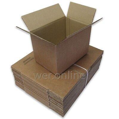 25 x Postal Packing Box Small Cardboard Cartons 9 x 6 x 6