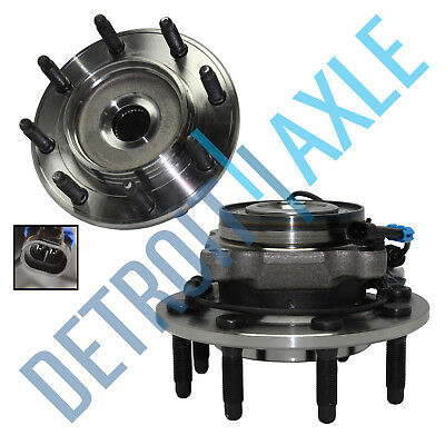 Set (2) New Front Wheel Hub & Bearing Assembly Sierra Silverado Suburban 8 Lug