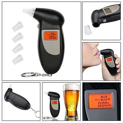 NEW Digital Alcohol BreathTester Breathalyzer Analyzer Detector Test Keychain UK