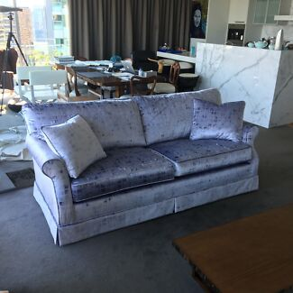 Sofa lounge, recently upholstered, USA manufactured, excellent