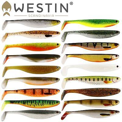 Westin Shad Teez - Gummifisch schlank, Gummiköder, Gummishad, Barschköder