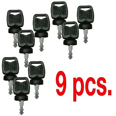 9 Pcs. Bobcat 422455 Ignition Key Apk75 5119s