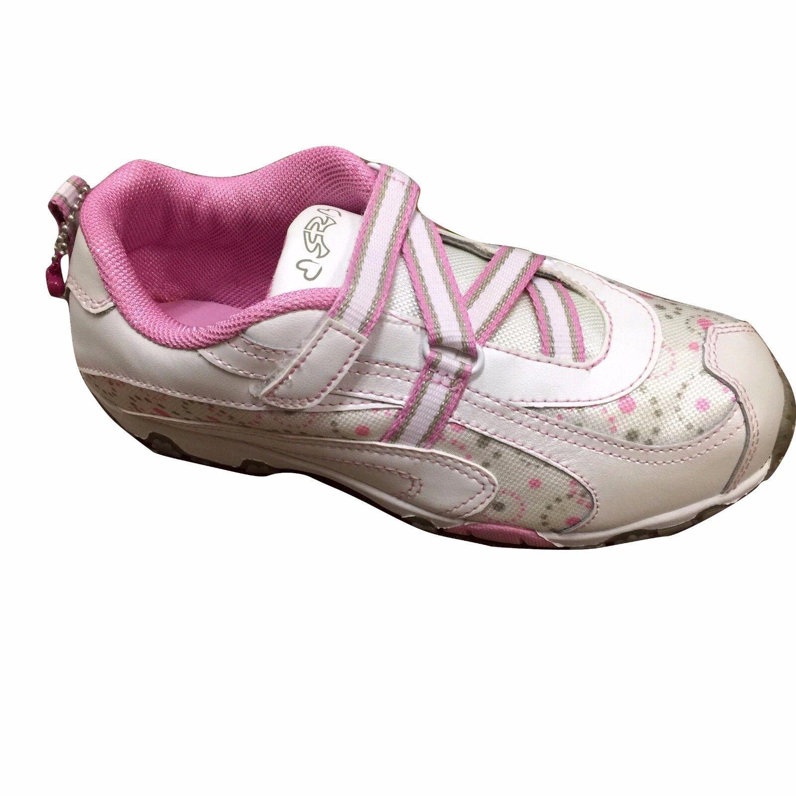 Girls Children's STRIDE RITE Ashley WHITE/PIINK leather shoe