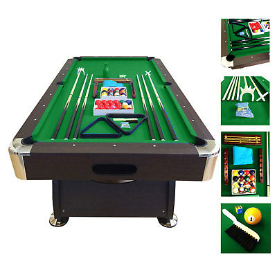 Used, 7' Feet Billiard Pool Table Snooker Full Set Accessories Game mod. Green Season for sale  Miami