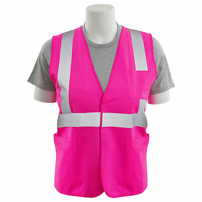 Erb Non-ansi Reflective Safety Vest With Pockets Pink