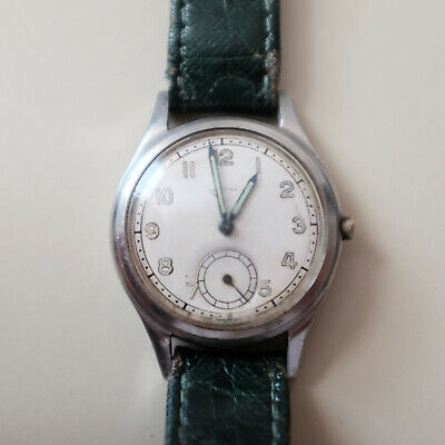 Longines watch with sub-second c1940s. Working but missing crown. Cal 12.68z.