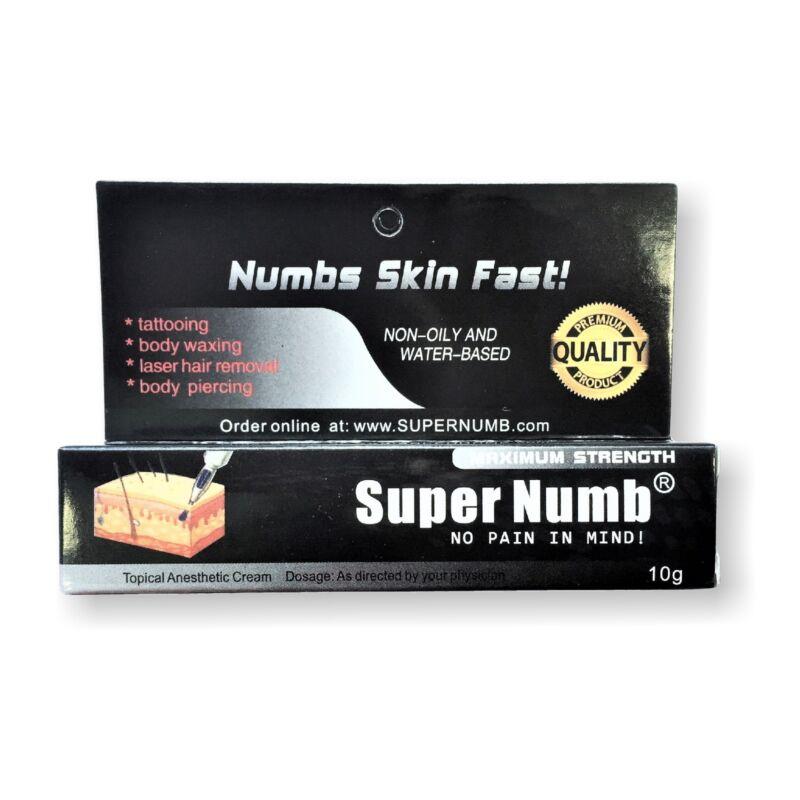 10g SUPER NUMB Strongest Numbing Cream Skin Body Piercings Waxing Laser Skin Dr