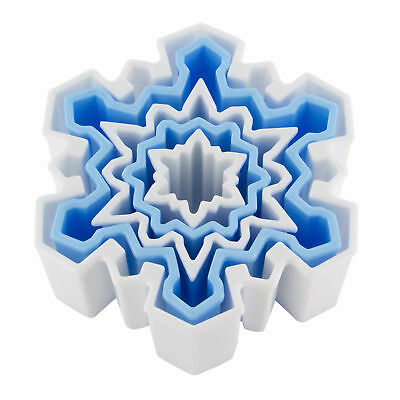 Snowflake Cookie Cutter - Global Sugar Art Snowflake Plastic Cookie Cutter, Set of 5 | Christmas | Holiday