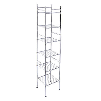 Honey-Can-Do 6-Tier Metal Tower, Chrome