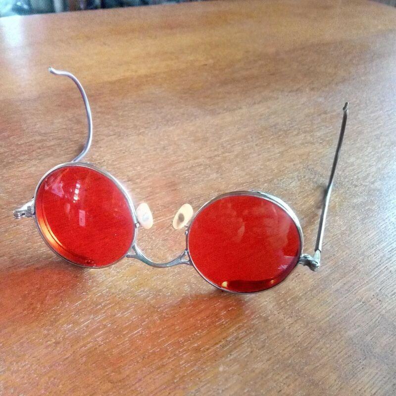 Vtg Welsh Steampunk Goggles Glasses
