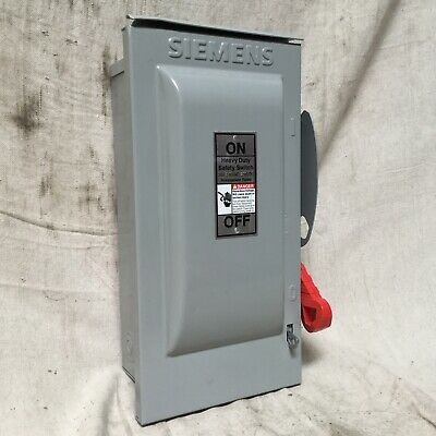 Siemens Hf321nr Safety Switch Fusible Heavy 240v Ac Voltage 3 Ph 7-12 Hp