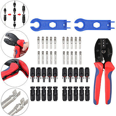 Mc3 Mc4 Solar Crimping Tools Panel Pv Cable Male Female Spanner Wrench Tool Kit