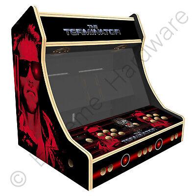 "BitCade 2 Player 24"" Bartop Arcade Machine Cabinet with Terminator Artwork"