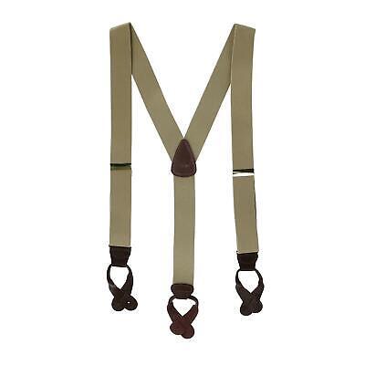 New CTM Men's Elastic Button End Suspenders