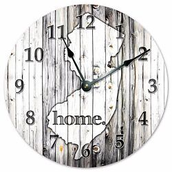 NEW JERSEY RUSTIC HOME STATE CLOCK - Large 10.5 Wall Clock - 2239