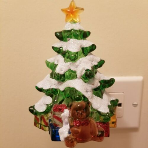 Colorful Christmas Tree Night Light In Christmas Holiday Colors Fits All Sockets