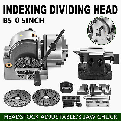 Bs-0 Semi 5 Indexing Dividing Spiral Head 3-jaw Chuck Tailstock Cnc Milling New