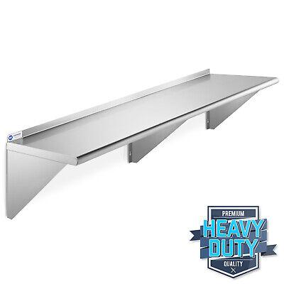 Open Box - Nsf Stainless Steel 12 X 72 Wall Shelf Restaurant Kitchen Shelving