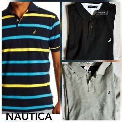 NAUTICA Mens Polo shirt Cotton Interlock