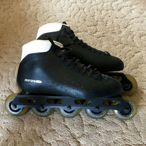 Men's Size 13 Performance Inline Skates, Roller blades black and white