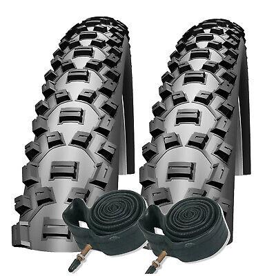 Impac Ridgepac 26 x 2.10 Vélo De Montagne Pneus Avec Schrader Tubes Paire