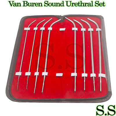 Van Buren Urethral Dilators Set Of 8 - Including Case Medical Instruments Obgyn