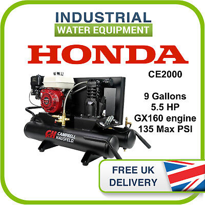 Honda 9-Gallon Wheelbarrow Single-Stage Air Compressor CE2000 5.5 HP GX16 engine