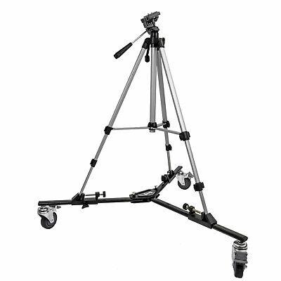 "Opteka M3 Pro Heavy Duty Folding Dolly with 54"" Tripod for Photo & Video Camera"