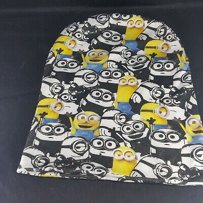 Minion Hats For Adults (Universal Despicable Me MINION Reversible Hat Beanie Skull Winter Cap Adult)