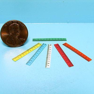 Dollhouse Miniature Office / Desk Plastic Ruler ~ Various Colors HR57010