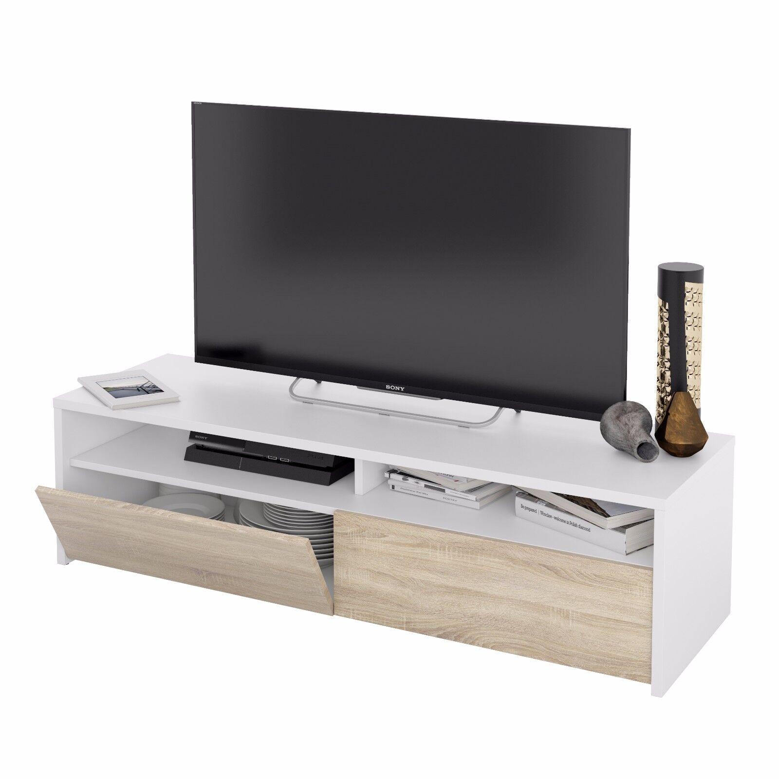 Muebles De Tv Y Multimedia Color Principal Blanco Para El Hogar Ebay # Luke Muebles De Bano