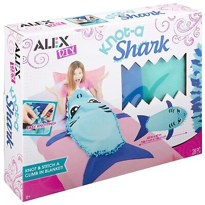 Brand New Alex Toys Knot a Shark Kid Craft Shark Blanket Knot a Shark craft