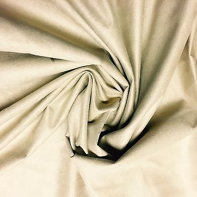 PRESTIGIOUS LUXURIOUS BEIGE SUEDE FIRE PROOF CURTAIN UPHOLSTERY FABRIC 10 METRES