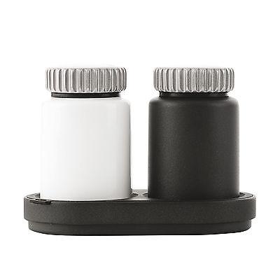Vipp 263 Salz- und Pfeffermühle 3-tlg. schwarz/weiß ø 6,5 cm, h 11,5 cm