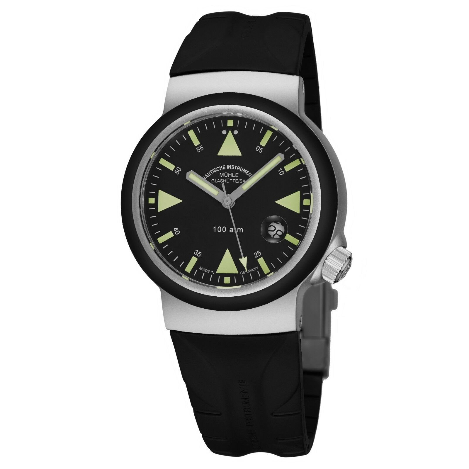Mühle Glashutte Men's S.A.R. Rescue Timer Strap Automatic Date Watch M1-41-03-KB - watch picture 1