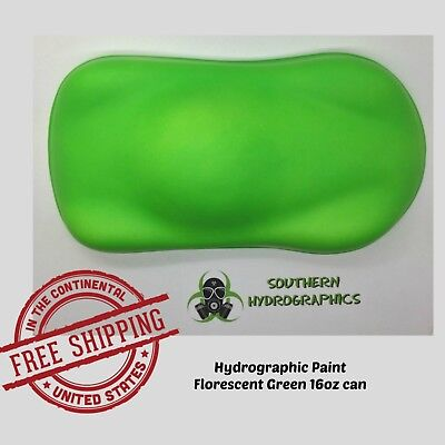 Hydrographic Film Hydro Dip Kit Paint Base Coat 16oz Aerosol Hh Florescent Green