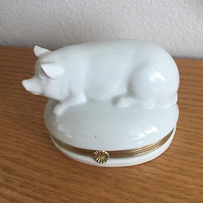 Hinged Pig Trinket Box  The Haldon Group  2 5 8  X 3 1 2