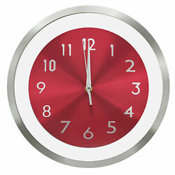 TKF 12 Aluminum Wall Clock with Free Floating Concentric Red Face Dial