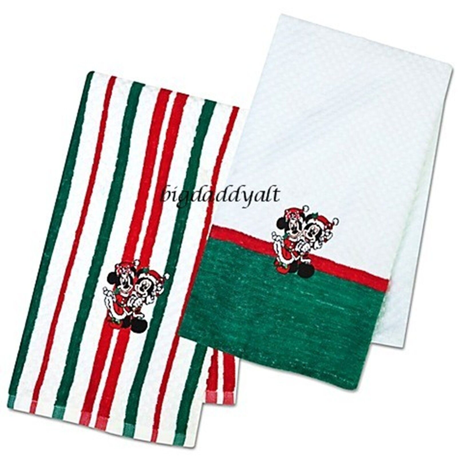 Kitchen Towels Xmas: New Disney Parks Santa Mickey Mouse & Minnie Christmas