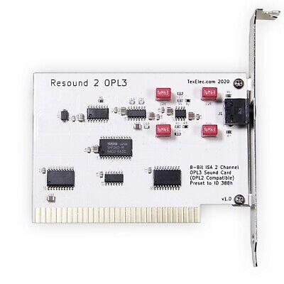 Resound 2 OPL3 – 8 Bit ISA Adlib Compatible Sound Card - by TexElec