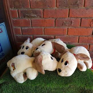 $ 15 EACH 4 x 35cm Talking / Moving Mattel Pound Puppies