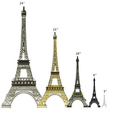 Allgala Eiffel Tower Statue Decor Alloy Metal Various Color and - Eiffel Tower Decorations