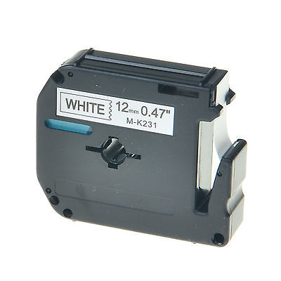Black On White Label For Brother M-k231 M231 Mk231 P-touch Tape Pt-65 12mm 8m